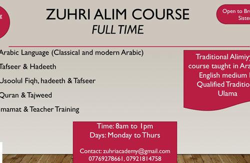 Zuhri Alim course